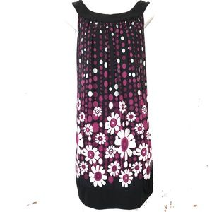 CONNECTED APPAREL Lined Black & Plum Dress ~sz 10